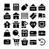 Εμπορικά διανυσματικά εικονίδια 1 Στοκ Εικόνες