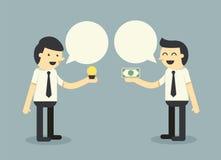 Εμπορικές συναλλαγές επιχειρηματιών διανυσματική απεικόνιση