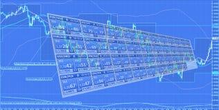 Εμπορικές συναλλαγές Forex Στοκ Εικόνες
