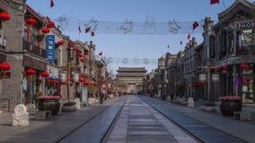 Εμπορική οδός πυλών της Κίνας Πεκίνο στραμμένη προς το νότο Στοκ Εικόνες