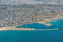 Εμπορικός θαλάσσιος λιμένας της Λάρνακας, Κύπρος στοκ εικόνα με δικαίωμα ελεύθερης χρήσης