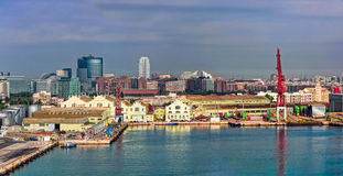 Εμπορικός λιμένας της Βαλένθια, Ισπανία στοκ εικόνες