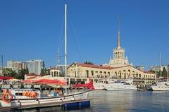 Εμπορικός λιμένας του Sochi στοκ εικόνα με δικαίωμα ελεύθερης χρήσης