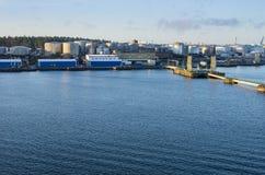 Εμπορικός λιμένας Στοκ φωτογραφίες με δικαίωμα ελεύθερης χρήσης