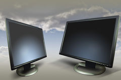 εμπορικός μηνύτορας 2 παρο στοκ εικόνα με δικαίωμα ελεύθερης χρήσης