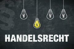 Εμπορικός νόμος εμβλημάτων στα γερμανικά στοκ εικόνα με δικαίωμα ελεύθερης χρήσης