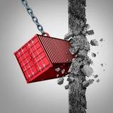 Εμπορικός περιορισμός απεικόνιση αποθεμάτων