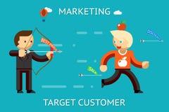 Εμπορικός πελάτης στόχων απεικόνιση αποθεμάτων