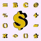 εμπορικός στο σύμβολο, τρισδιάστατο εικονίδιο τρισδιάστατο καθολικό εικονιδίων λέξεων που τίθεται για τον Ιστό και κινητό απεικόνιση αποθεμάτων