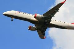 εμπορικό αεριωθούμενο αεροπλάνο Στοκ Εικόνα