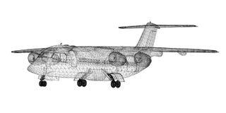 Εμπορικό επιβατηγό αεροσκάφος Στοκ εικόνες με δικαίωμα ελεύθερης χρήσης