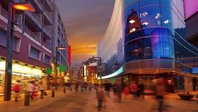 Εμπορικό ηλιοβασίλεμα περιοχής Λα Vella της Ανδόρας στοκ φωτογραφία