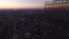 εμπορικό κέντρο διεθνής Μόσχα απόθεμα βίντεο