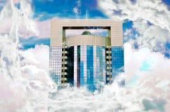 Εμπορικό κέντρο κτηρίων, ουρανοξύστης, επιχειρησιακό υπόβαθρο, επιχειρησιακό γραφείο Στοκ Εικόνα