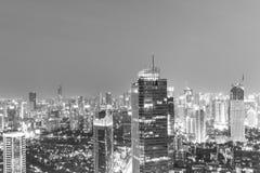 Εμπορικό κέντρο της Τζακάρτα τη νύχτα Στοκ Φωτογραφίες