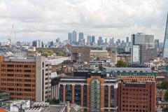 Εμπορικό κέντρο του Λονδίνου από την εναέρια άποψη Στοκ εικόνα με δικαίωμα ελεύθερης χρήσης