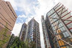 Εμπορικό κέντρο του Λονδίνου από την εναέρια άποψη Στοκ Φωτογραφία
