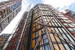 Εμπορικό κέντρο του Λονδίνου από την εναέρια άποψη Στοκ εικόνες με δικαίωμα ελεύθερης χρήσης