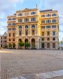 Εμπορικό κτήριο σε Plaza Vieja Κούβα Στοκ εικόνα με δικαίωμα ελεύθερης χρήσης
