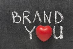 Εμπορικό σήμα εσείς καρδιά Στοκ Εικόνες