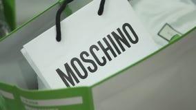 Εμπορικό σήμα μόδας Moschino απόθεμα βίντεο