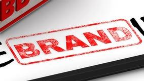 Εμπορικό σήμα - που Διορθωμένη εντύπωση σφραγίδων απεικόνιση αποθεμάτων