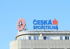 Εμπορικό σήμα του sporitelna Ceska Στοκ Εικόνες