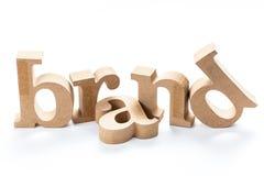 Εμπορικό σήμα το ξύλινο Word Στοκ εικόνες με δικαίωμα ελεύθερης χρήσης