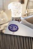 1938 εμπορικό σήμα Delage Francia έξω από το αυτοκίνητο Στοκ φωτογραφία με δικαίωμα ελεύθερης χρήσης