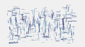Εμπορικό σύννεφο λέξης νοημοσύνης εμπορίου επιχειρησιακής επιχείρησης Στοκ Φωτογραφίες
