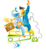 εμπορικό τηλέφωνο Διανυσματική απεικόνιση