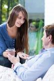 Εμποτισμός στην άρρωστη γυναίκα Στοκ Εικόνα