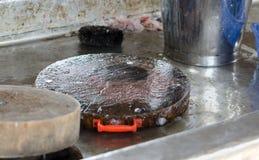 Εμποδίστε τα ψάρια στο μάγειρα στοκ φωτογραφίες με δικαίωμα ελεύθερης χρήσης