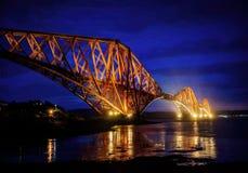 Εμπρός γέφυρα Εδιμβούργο Ηνωμένο Βασίλειο Στοκ Φωτογραφίες