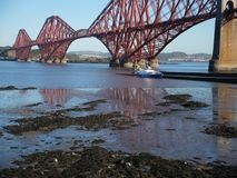 Εμπρός γέφυρα Σκωτία Εδιμβούργο στοκ εικόνες με δικαίωμα ελεύθερης χρήσης