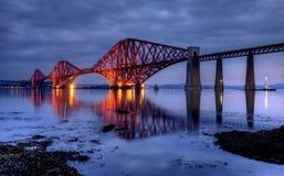 Εμπρός γεφυρώστε, Εδιμβούργο, Σκωτία Στοκ Εικόνες