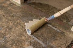 Εμπυρευματίζοντας τσιμεντένιο πάτωμα Στοκ εικόνα με δικαίωμα ελεύθερης χρήσης