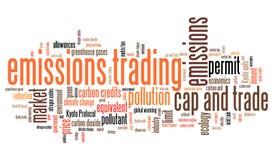Εμπόριο εκπομπών απεικόνιση αποθεμάτων
