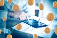 Εμπόριο και έννοια cryptocurrency Στοκ Εικόνα
