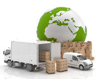 Εμπόριο στην Ευρώπη - μεταφορά Στοκ φωτογραφία με δικαίωμα ελεύθερης χρήσης