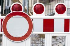 Εμπόδιο κατασκευής Στοκ εικόνες με δικαίωμα ελεύθερης χρήσης
