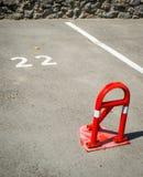 Εμπόδιο κόλπων χώρων στάθμευσης Στοκ Φωτογραφίες