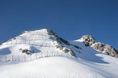 Εμπόδιο χιονοστιβάδων Στοκ εικόνες με δικαίωμα ελεύθερης χρήσης