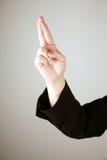 εμφάνιση αριθμού 10 δάχτυλων Στοκ φωτογραφία με δικαίωμα ελεύθερης χρήσης
