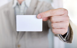 εμφάνιση καρτών επιχειρησ&i Στοκ εικόνες με δικαίωμα ελεύθερης χρήσης