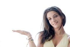 εμφάνιση φοινικών κοριτσι Στοκ φωτογραφία με δικαίωμα ελεύθερης χρήσης