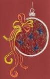 εμφάνιση Χριστουγέννων καρτών σφαιρών Στοκ φωτογραφία με δικαίωμα ελεύθερης χρήσης