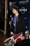 εμφάνιση bieber ο Justin ζωντανός στοκ εικόνες