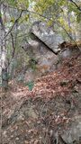Εμφανιμένος βράχος Στοκ εικόνες με δικαίωμα ελεύθερης χρήσης
