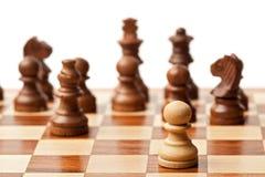 ενάντια σε όλο το σκάκι ένα Στοκ Φωτογραφίες